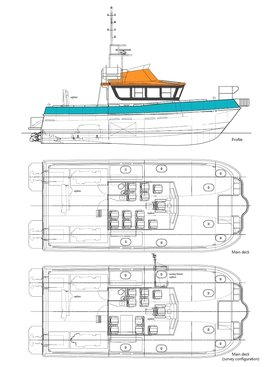 15 m crew transfer/wind farm support vessel